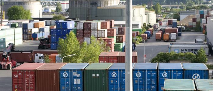 Lagerung der Container
