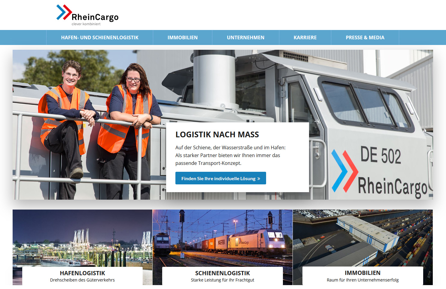 RheinCargo Website